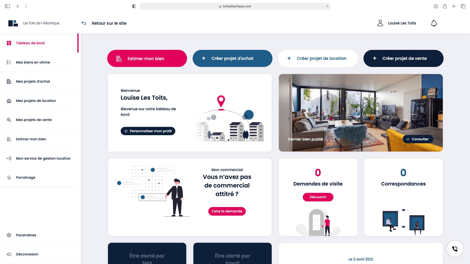 espace client immobilier